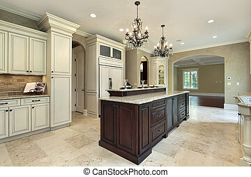 Kitchen with double deck island - Kitchen in new...