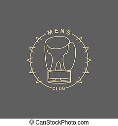 Mens Club logo. Emblem for sports club for men. Sign of...