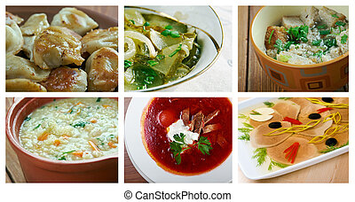 Slavonic traditional cuisine - Food set Slavonic traditional...