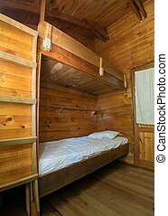 Bank Bed in a Swiss Hut in Chile