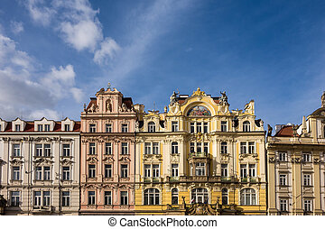 Historical building in Prague (Czech Republic).
