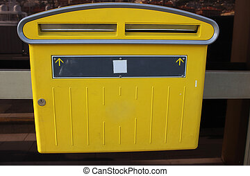 French Mailbox -  Yellow Official French Mailbox