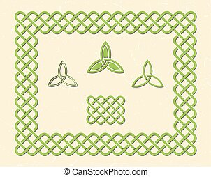 Celtic style knot frame and elements