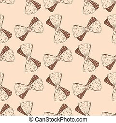 Seamless pattern with hand drawn bow. Background for gifs,...