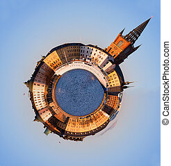 Riddarholmen, Stockholm - Spherical panorama of Riddarholmen...