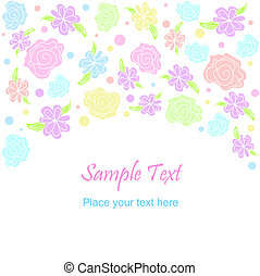 Flower pattern - Vector flower pattern background Pastel...