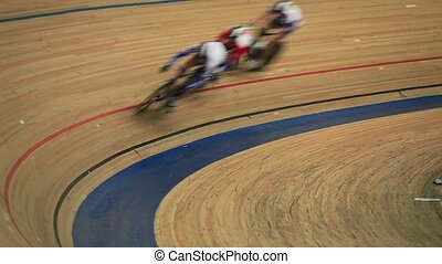 Bicycle Race competition blurred