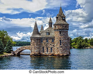 Power House of the Boldt Castle on Ontario Lake, Canada -...
