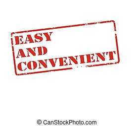 Easy and convenient - Rubber stamp with text easy and...