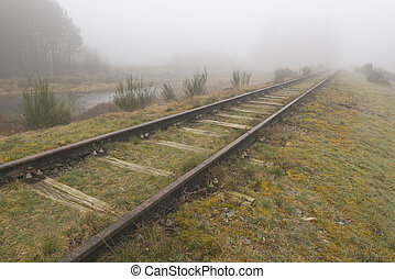 Old railway line Borkense Course in the Netherlands - Old...