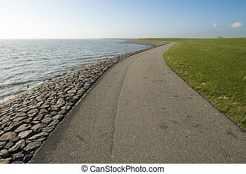 Waddendyke on the island of Terschelling in the Netherlands...