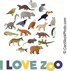I love ZOO Vector poster with animals images for any kind...