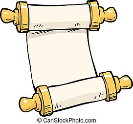 Doodle ancient scroll - Cartoon doodle ancient scroll on a...