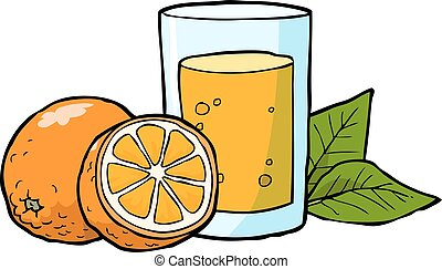 Fresh orange juice - Cartoon doodle fresh orange juice...