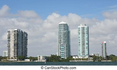 Time lapse Miami  - Time lapse movie Miami Skyline, Florida