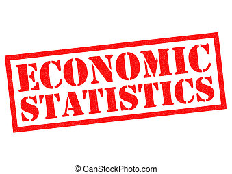 ECONOMIC STATISTICS red Rubber Stamp over a white background...