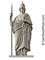 Grec, déesse,  stat, classique,  Athéna