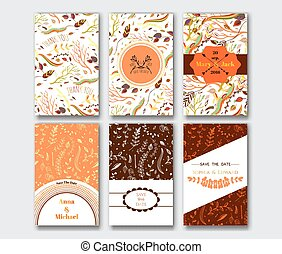 Set of the card templates