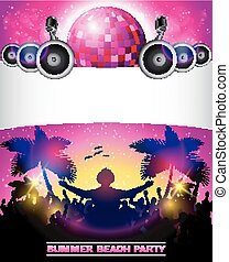 Summer Beach Party With disco ball