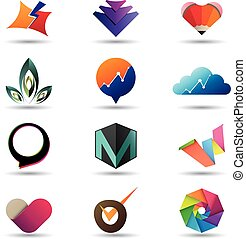 Modern business icon collection
