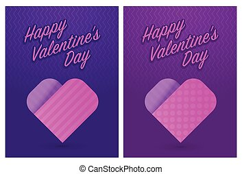 Vector illustration of greeting cards for St Valentines Day...
