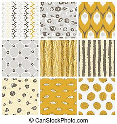 Trendy Vector Pattern Set