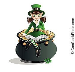 St Patricks Day Leprechaun girl - Patrick Day Leprechaun...