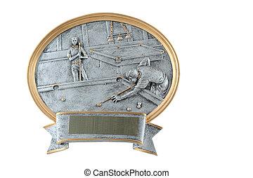 Billiards plaque