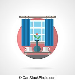 Coffee time detailed flat color vector icon