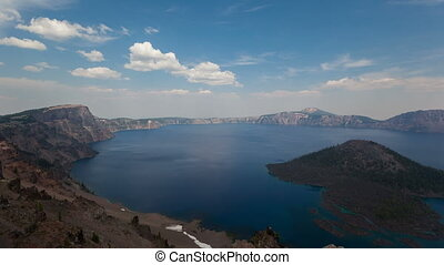 4K Timelapse Crater Lake National Park, Oregon, USA, with a...