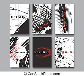 Set of the grunge card templates