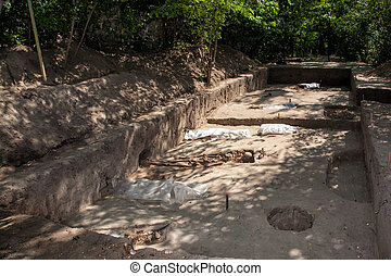 Archaeological excavations. Archeology