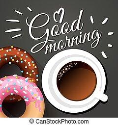 Good morning Vector illustration - Good morning card...