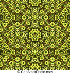 Seamless pattern with green and red details - Interesting...
