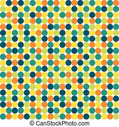 Seamless polka dot pattern in vivid colors