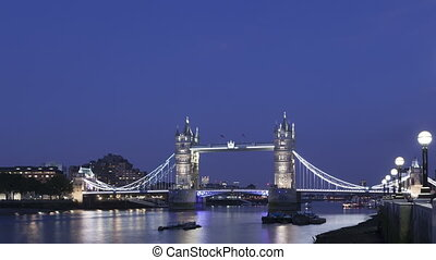 4K Time lapse Tower Bridge London twilight - 4K Time lapse...