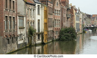 quot;Ghent city view, belgium, 4kquot; - Ghent city view,...