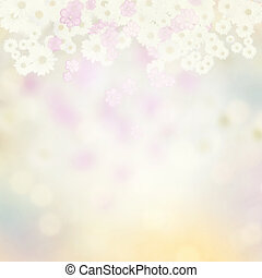 Nature Abstract Background with Flowers