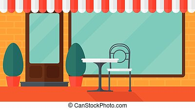 Background of street cafe. - Background of street cafe with...
