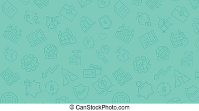 Background with business icons.