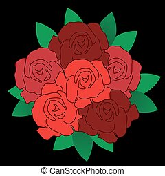 Rose Bouquet,vector