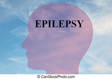 Epilepsy concept - Render illustration of Epilepsy title on...