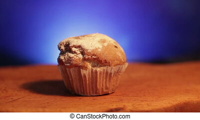 Muffin cake powdered sugar - Muffin cake with white powdered...