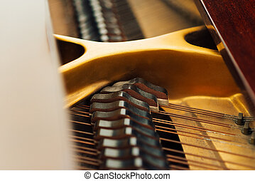 string mechanism in old piano - string mechanism in the old...