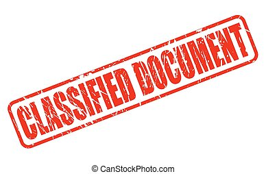 CLASSIFIED DOCUMENT red stamp text on white