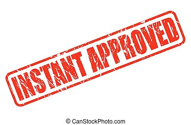 Instant approved red stamp text