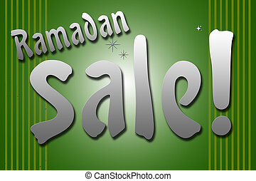 Ramadan Sale combine by sparkle star with red background