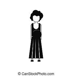 Pregnant woman icon