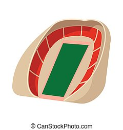 Football soccer stadium cartoon icon