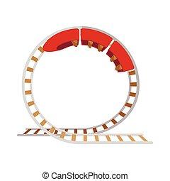 Roller coaster cartoon icon